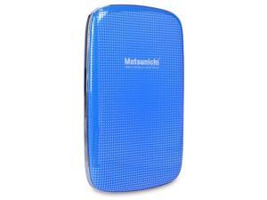 "Matsunichi DM256 1TB Slim Portable 2.5"" External Hard Drive USB 3.0 - Blue"