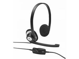 Logitech ClearChat Stereo Headphones Headset Boom Mic, Inline Control, 3.5mm