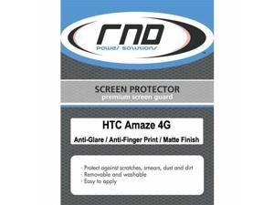 RND 3 Screen Protectors for HTC Amaze 4G (Anti-Fingerprint/Anti-Glare - Matte Finish) with lint cleaning cloths