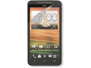 RND 3 Screen Protectors for HTC EVO 4G LTE (Anti-Fingerprint/Anti-Glare - Matte Finish) with lint cleaning cloths