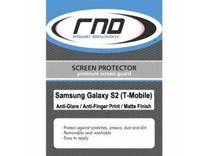 RND 3 Screen Protectors for Samsung Galaxy S II (T-Mobile version) (Anti-Fingerprint/Anti-Glare - Matte Finish) with lint cleaning cloths