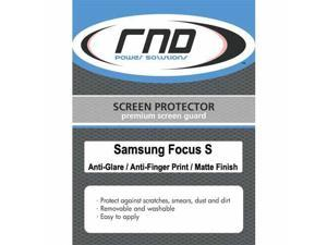 RND 3 Screen Protectors for Samsung Focus S (Anti-Fingerprint/Anti-Glare - Matte Finish) with lint cleaning cloths