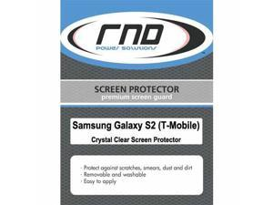 RND 3 Screen Protectors for Samsung Galazy S II (T-Mobile Version) (Ultra Crystal Clear) with lint cleaning cloths