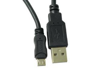RND Micro to USB Cable for Smartphones (2 feet/black/Gold-Plated)