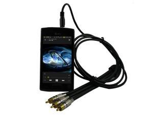 RND Extra Long 3.5mm to RCA Adapter Stereo TV-Out Cable for: Samsung Galaxy S (4G  Captivate i897  and Vibrant T959)  and Omnia 2(II) Smartphones