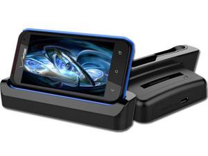 RND Dock and 2nd Battery Charger for HTC DROID INCREDIBLE 4G LTE (compatible without or with a slim-fit case)