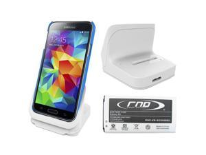 RND Dock + 2800mAh NFC Standard Battery for Samsung Galaxy S5 (white)