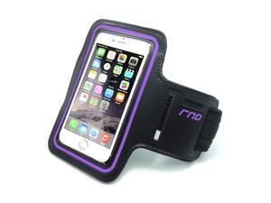 RND Slim-Fit Active Sports Armband Case for iPhone (SE/5/5C/5S/6/6S) and Samsung Galaxy (S4/S5/S6/S7) LG  Moto  OnePlus  HTC  Blackberry  Microsoft Smartphones and more (purple)
