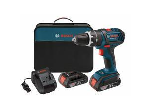 Refurbished: BOSCH DDS181-02-RT 18V Cordless Lithium-Ion Compact Tough 1/2 in. Drill Driver with 2 Slim Pack HC Batteries