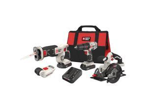 Porter-Cable PCCK616L4R 20V Max Cordless Lithium-Ion 4-Tool Combo Kit