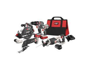 Porter-Cable PCCK617L6R 20V MAX Cordless Lithium-Ion 6-Tool Combo Kit