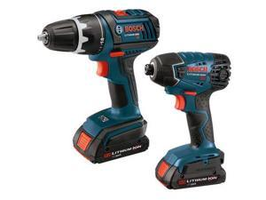 Bosch CLPK232-180-RT 18V Cordless Lithium-Ion 1/2 in. Drill Driver and Impact Driver Combo Kit
