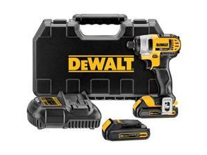 DeWALT DCF885C2R 20V MAX Cordless Lithium-Ion 1/4 in. Impact Driver Kit