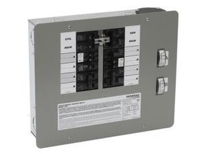 6378 30 Amp 10 Circuit 125/250V Indoor Manual Transfer Switch for Generators up to 7.5 kW