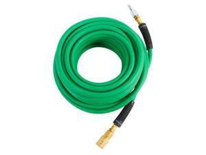 115158 1/4 in. x 50 ft. Hybrid Hose with Industrial Fittings (Green)