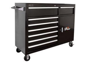 BK04056082 56 in. 8 Drawer Roller Cabinet (Black)