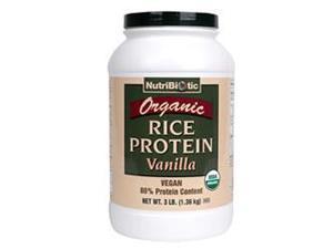 Nutribiotic Organic Rice Protein, Vanilla