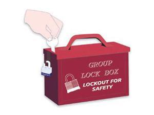 Red Group Lock Box For Work Team Lockout Situations