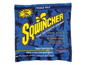 Sqwincher 23.83 Ounce Instant Powder Pack Tropical Cooler Electrolyte Drink -...