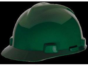 MSA Green V-Gard Class E, G Type I Polyethylene Standard Slotted Hard Cap
