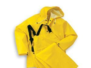 Bata/Onguard Large Yellow Webtex .65Mm Ribbed Pvc On Polyester Webtex Rain Hood