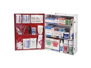 Three Shelf First Aid Kit, 100-Person Metal ANSI OSHA approved