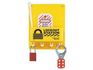 COMPACT LOCKOUT CENTER WITH A1106 RED ALUMINUM PADLOCK 1 EA