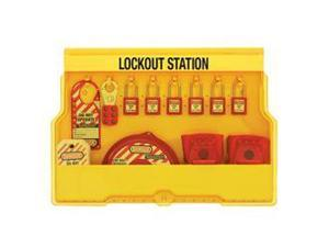 LOCKOUT STATION. VALVE LOCKOUT DEVICES WITH 410RED XENOY PADLOCKS 1 EA