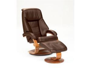 Mac Motion Expresso Leather-Swivel, Recliner with Ottoman