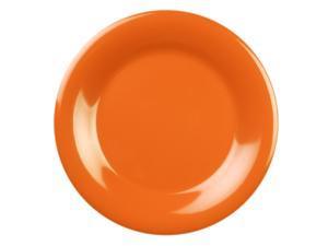 Excellante Adobe Melamine Collection 12-Inch Wide Rim Round Plate, Orangish Red - Dozen