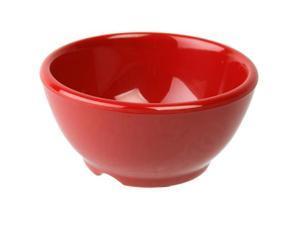 Excellante Crimson Melamine Collection 4.675-Inch Soup Bowl, 10-Ounce, Pure Red - Dozen