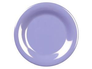 Excellante Blue Melamine Collection 10-1/2-Inch Wide Rim Round Plate, Blue - Dozen
