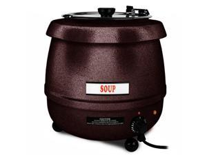 Excellante 10.5 Quart Stainless Steel Soup Warmer-Brown Color - Each