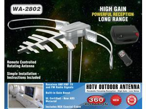 BoostWaves WA-2802 Outdoor Antenna - Parabolic Focusing 360 Degree Rotation