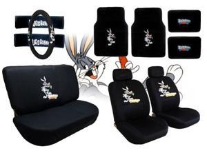 Bugs Bunny Seat Covers & Floor Mats Set – 15pc -  Looney Tunes