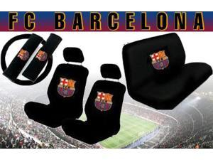 FC Barcelona Seat Cover Set – 11pc Full Interior