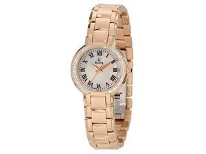 Bulova White Mother of Pearl Dial Stainless Steel Bracelet Ladies Watch 98R156