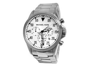 Michael Kors Gage Chronograph Silver Dial Mens Watch MK8331