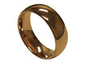 Mabella 8mm Men's Rose Gold Tungsten Carbide Wedding Band