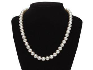 "Mabella Fashion PWS028PL 18"" Freshwater Pearl Necklace 7-8mm AAA Quality 14k Solid Yellow Gold Clasp"