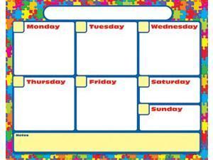Jigsaw Wipe-Off Weekly Calendar Grid