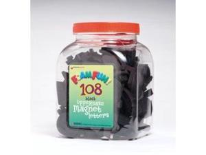 Dowling Magnets Fun Foam Magnets - Uppercase Black Magnet