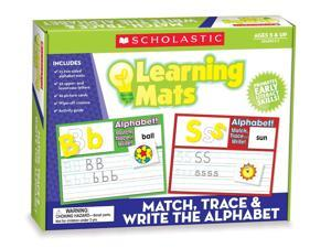 Scholastic Teacher's Friend Match, Trace & Write the Alphabet Learning Mats, Multiple Colors (TF7107)