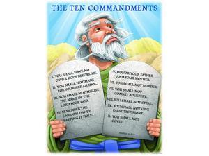 Carson Dellosa Christian The Ten Commandments Chart (6329)