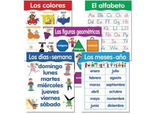 Creative Teaching Press Basic Skills Classroom Chart in Spanish - Pack of 5