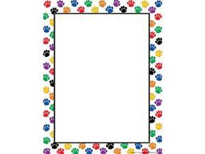 Teacher Created Resources Colorful Paw Prints Designed Computer Paper - 50 Sheets