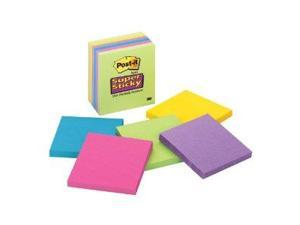 3M Post-it Super Sticky Ultra Note Pad - Assorted Colors, 65 Sheets, 3 x 3 Inches