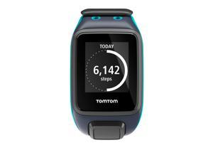 TomTom Spark Music GPS Watch & Activity Tracker Sky Captain Scuba Blue Large
