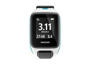 TomTom Spark Music GPS Fitness Watch & Activity Tracker White Scuba Blue Small