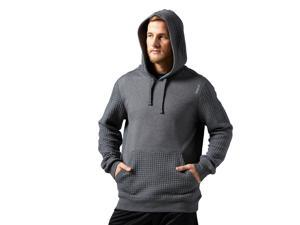 Reebok Men's Elements Quilted Pullover Dark Grey Heathered Size Large